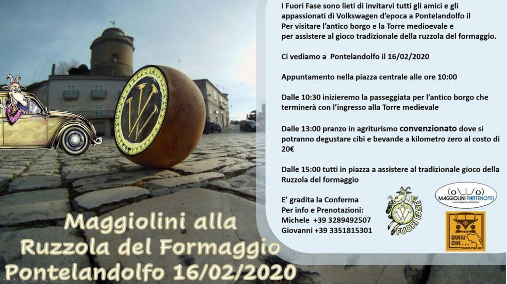 MAGGIOLINI ALLA RUZZOLA DEL FORMAGGIO, PONTELANDOLFO (BN), DOMENICA 16 FEBBRAIO 2020